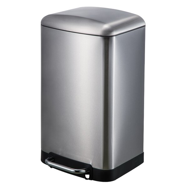 Factory Price Powder Coating Stainless Steel Kitchen: JoyWare Stainless Steel 8 Gallon Step On Trash Can