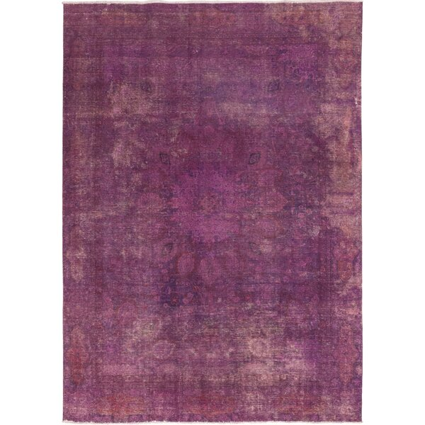Isabelline One Of A Kind Croker Hand Knotted Wool Pink Indoor Area Rug