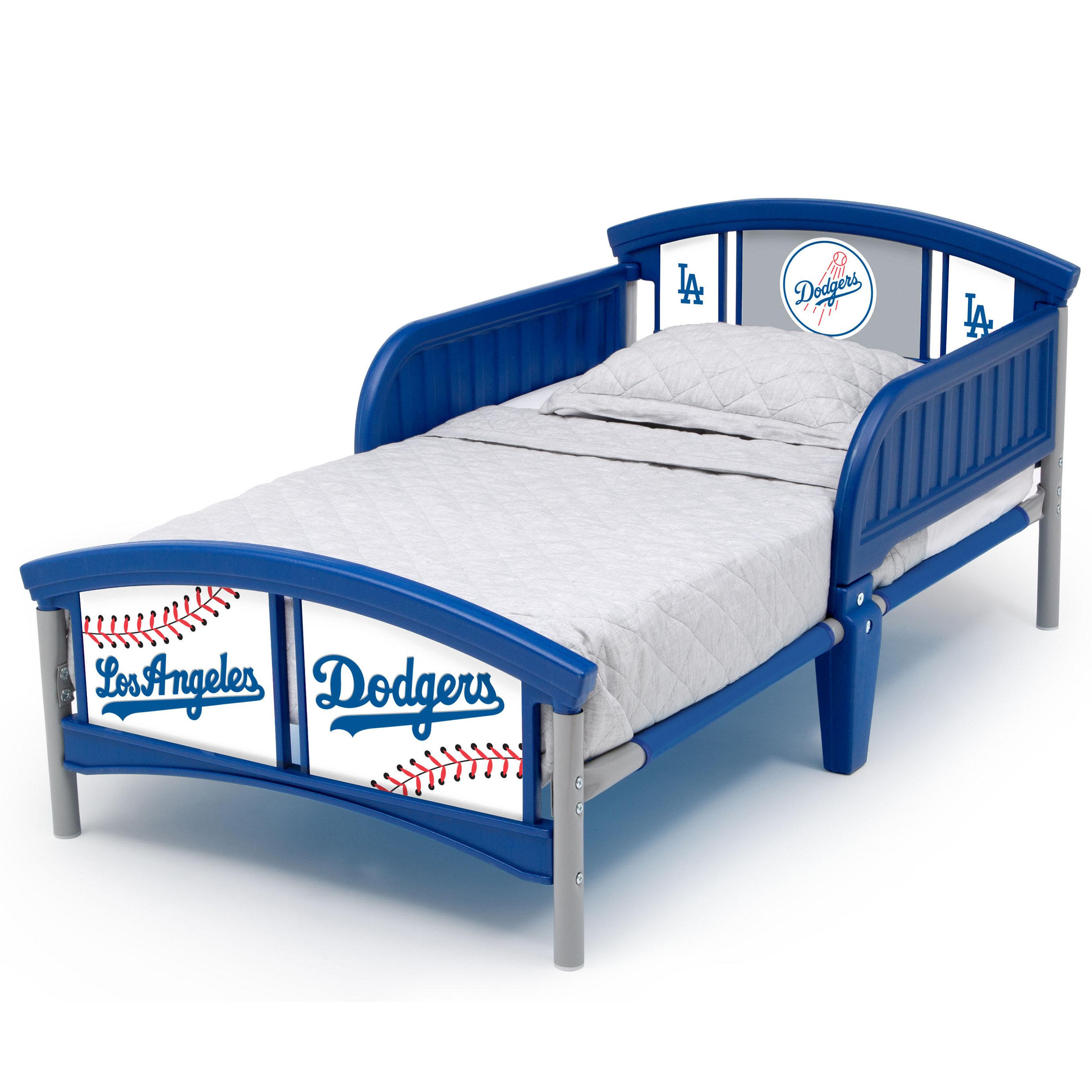 Delta Children Los Angeles Dodgers Plastic Toddler Bed | Wayfair