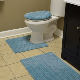 Seabrook Washable 2 Piece Bath Rug Set