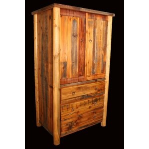Barnwood 3 Drawer with Round Legs Armoire by Utah Mountain