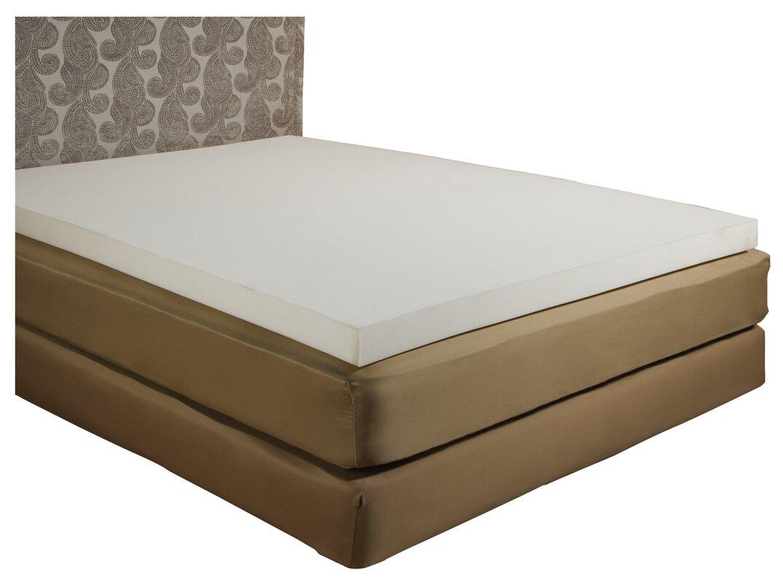 alwyn home 3 memory foam mattress topper reviews. Black Bedroom Furniture Sets. Home Design Ideas