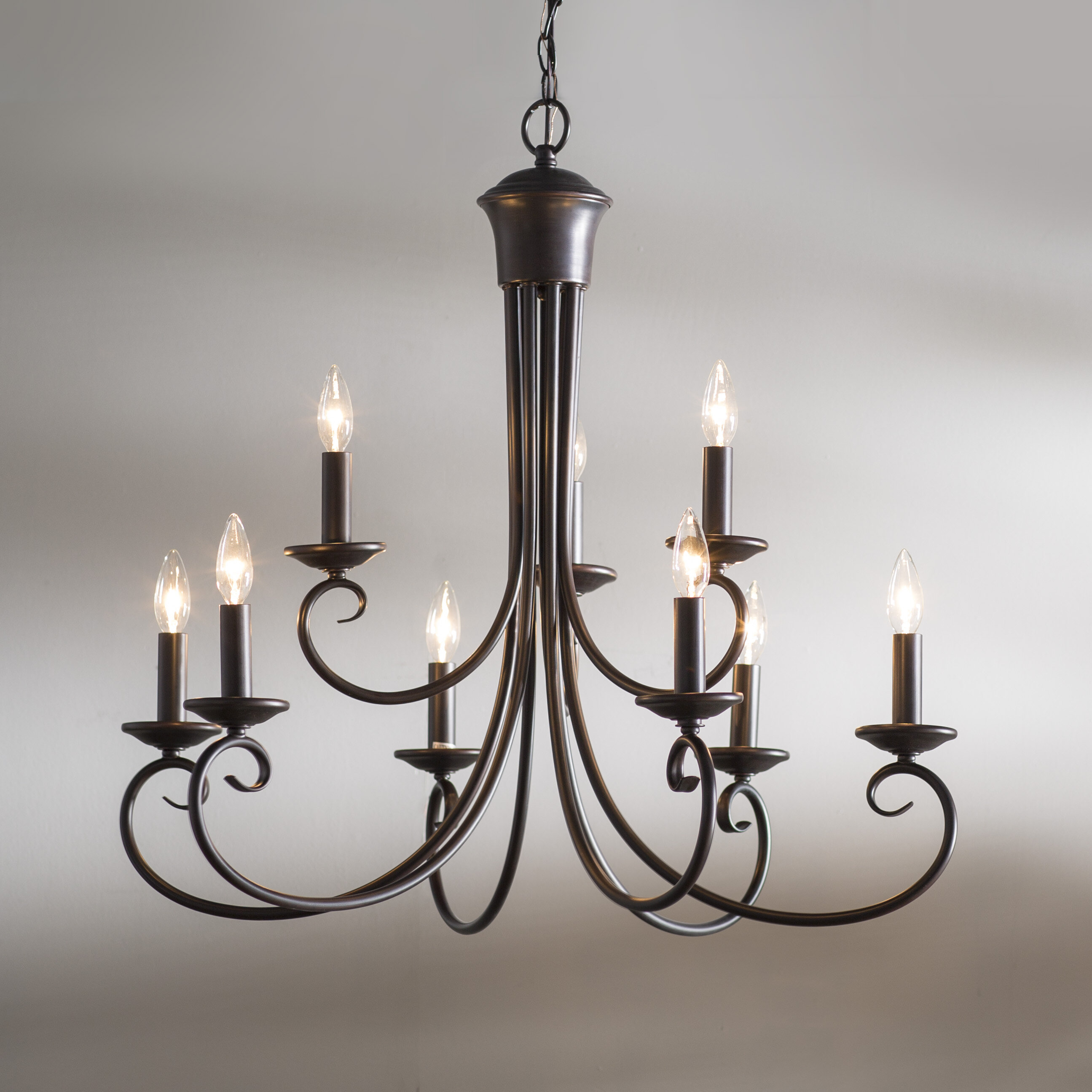 Astoria Grand Calafia 9 Light Candle Style Chandelier & Reviews