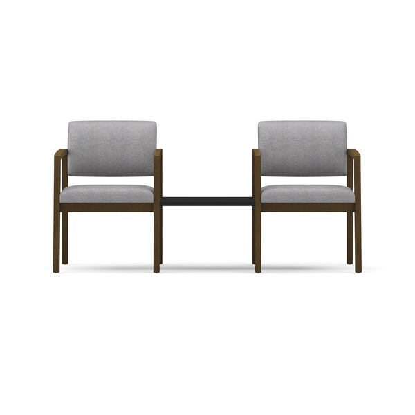 Lesro Lenox 2 Guest Chairs With Connecting Center Table U0026 Reviews | Wayfair