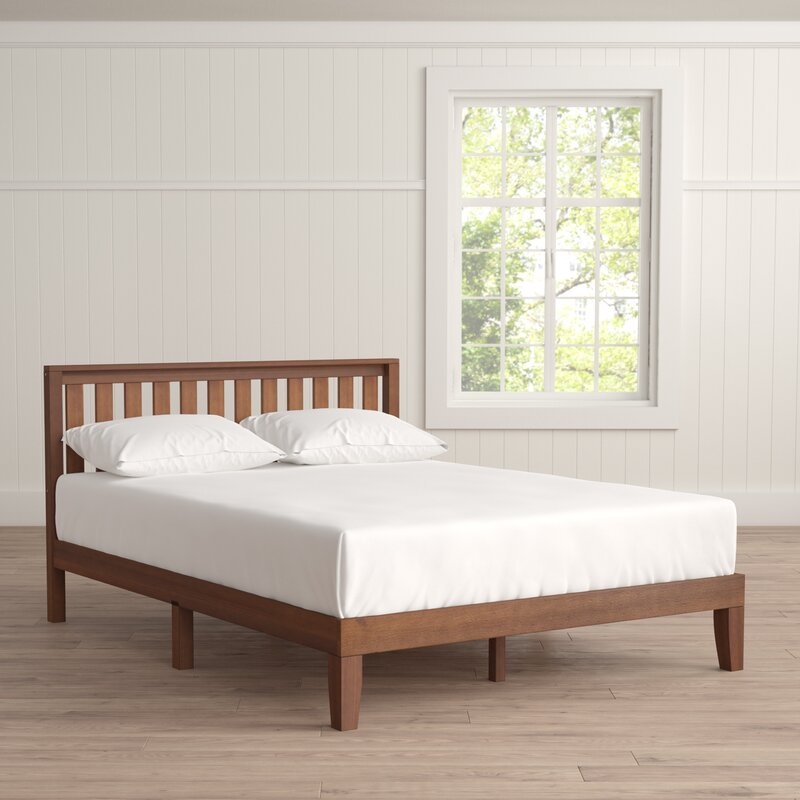 Winston Porter Dalila Solid Wood Platform Bed & Reviews | Wayfair