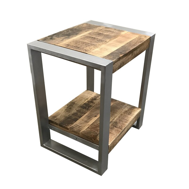 Exceptionnel Lupo Reclaimed Wood End Table