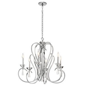 Amansara 6-Light Candle-Style Chandelier