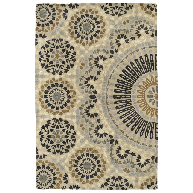 Alcott Hill Bergland Hand Tufted Beige/Gray Area Rug, Size: Rectangle 8 x 11