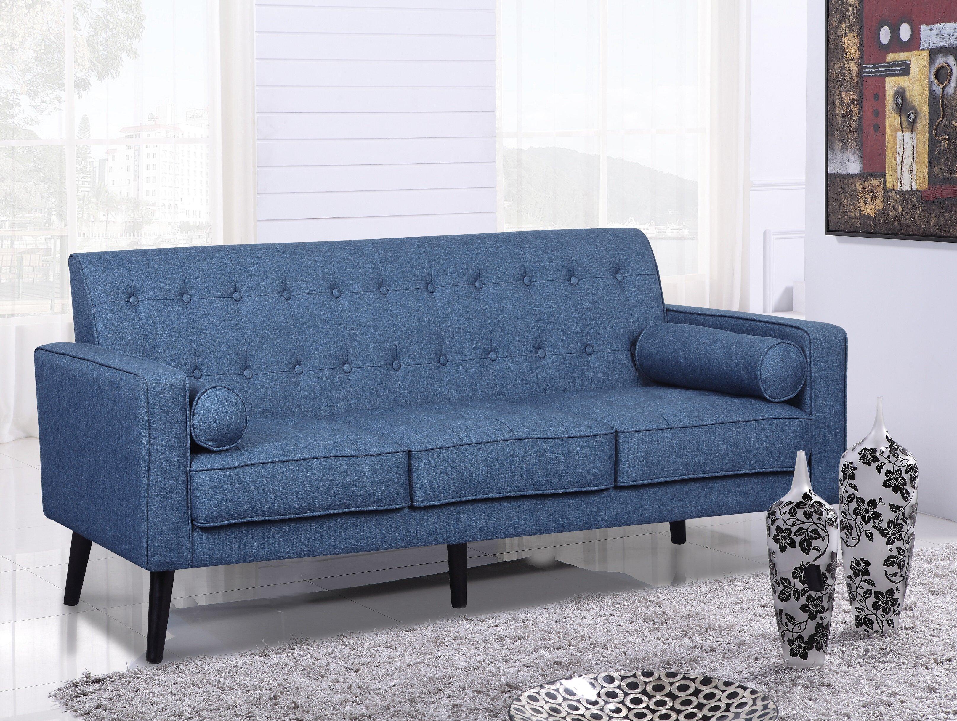 Deven Mid Century Tufted Sofa