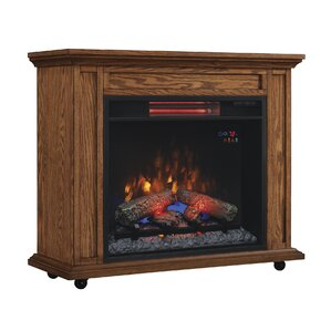 Rolling Mantel Electric Fireplace by Duraflame