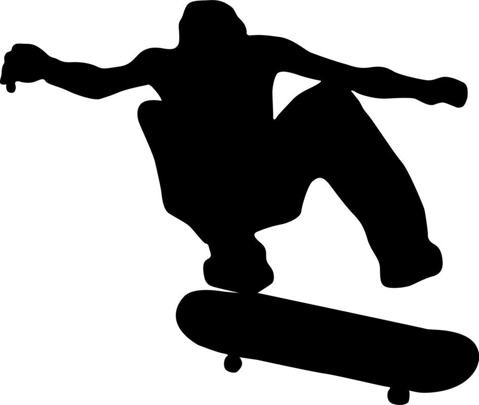 Wallhogs Skateboard Silhouette I Cutout Wall Decal