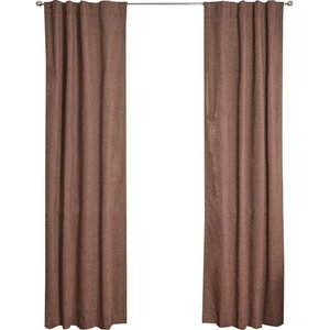Solid Blackout Thermal Rod Pocket Single Curtain Panel