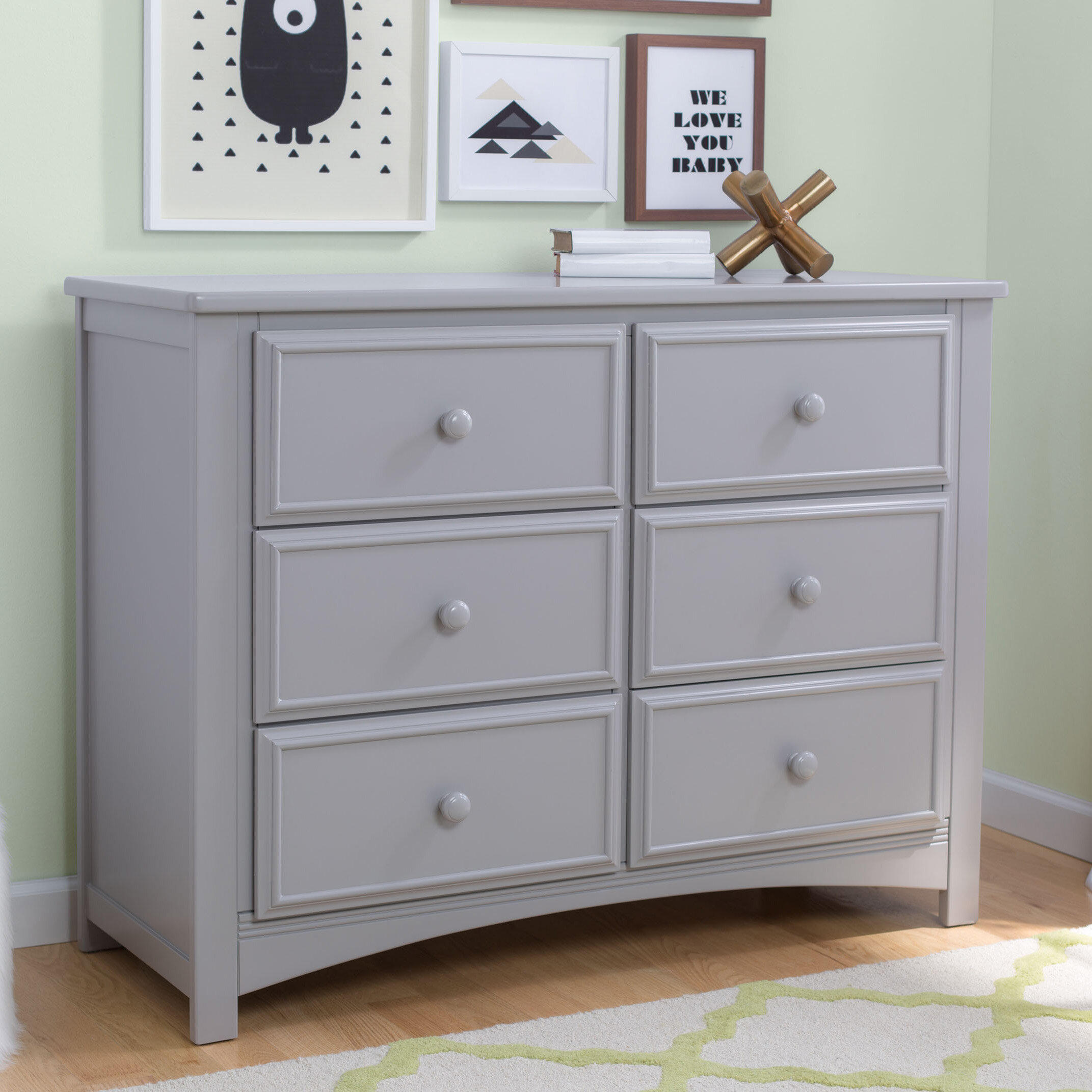 kalani grey chestnut drawer double lisacintosh wide davinci dresser