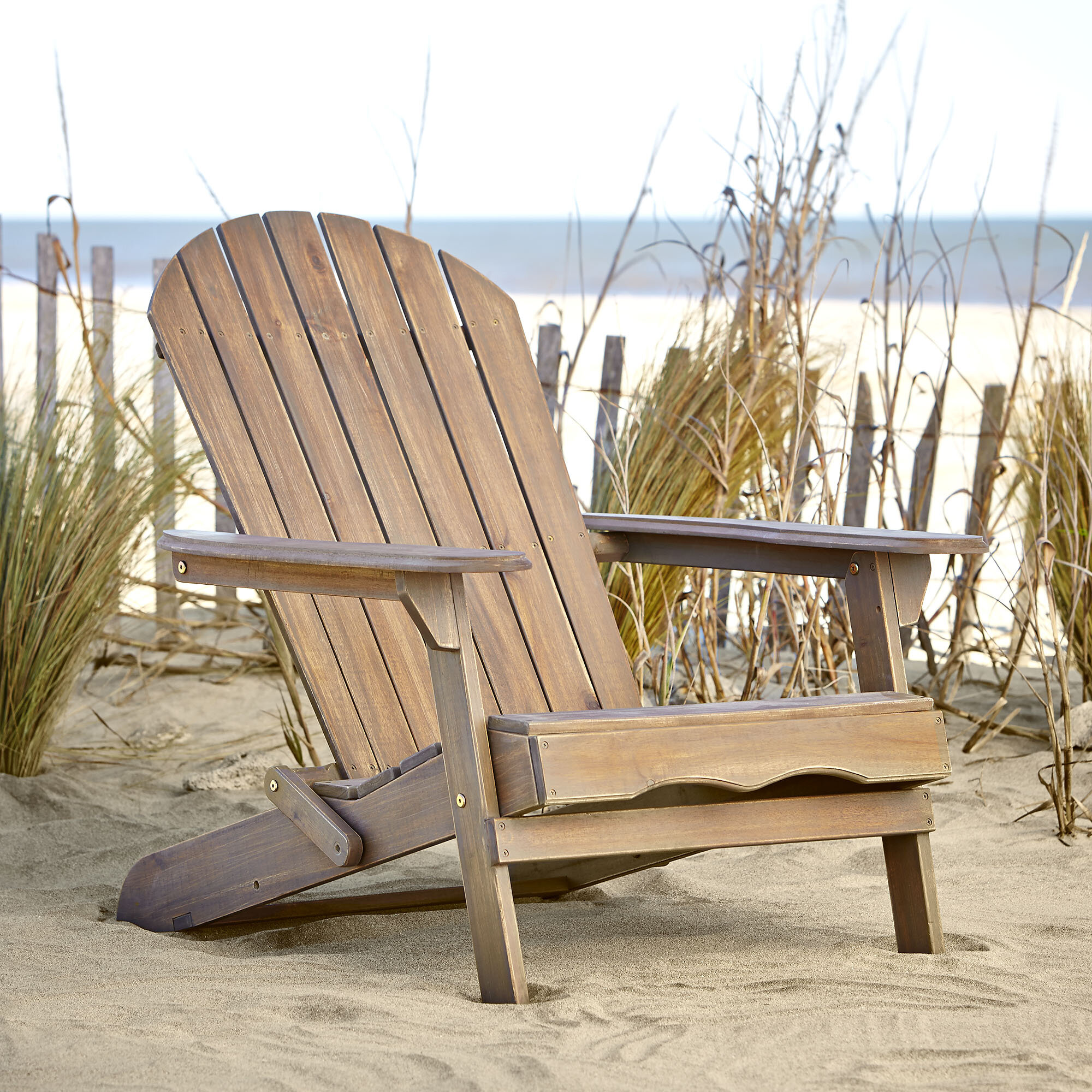 Birch Lane™ Ridgeline Solid Wood Folding Adirondack Chair