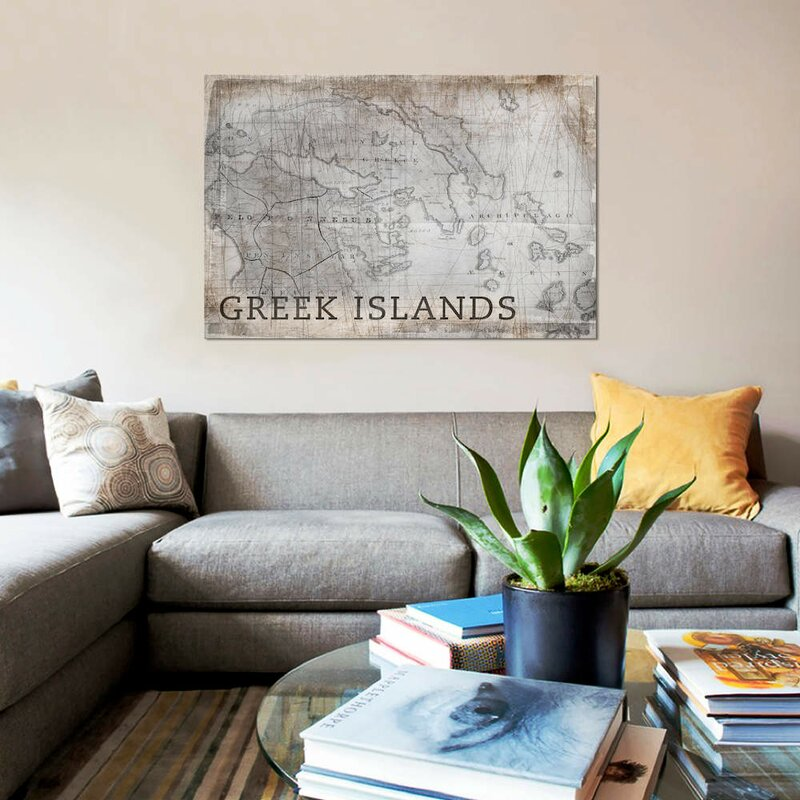 'Greek Islands Map, Vintage' Graphic Art Print on Canvas on map of mouse island, map of sicily, map of ionian greek islands, map of greek islands in english, map of turkey and greek islands, map of islands of greece, map of main land europe, map of isles gk, map of greece with cities, map of the hawaiian islands to print, map of greece showing mount olympus, map of hellenic, map of kalokairi, map of skala greece, map of italy, map of greece with islands, map with towns of evia greece,