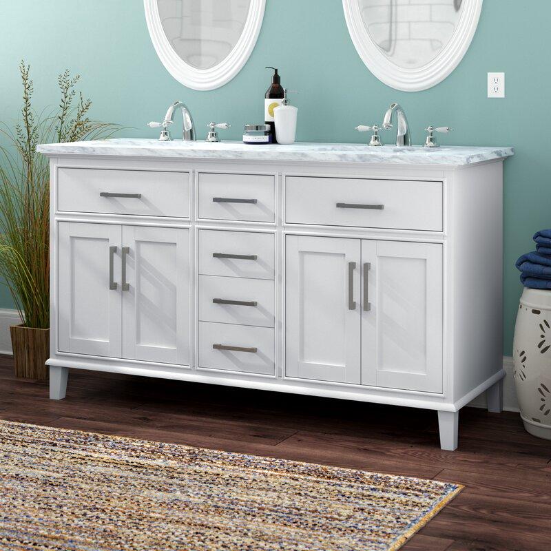 double bathroom vanity set. Mundy 60  Double Bathroom Vanity Set Reviews Birch Lane