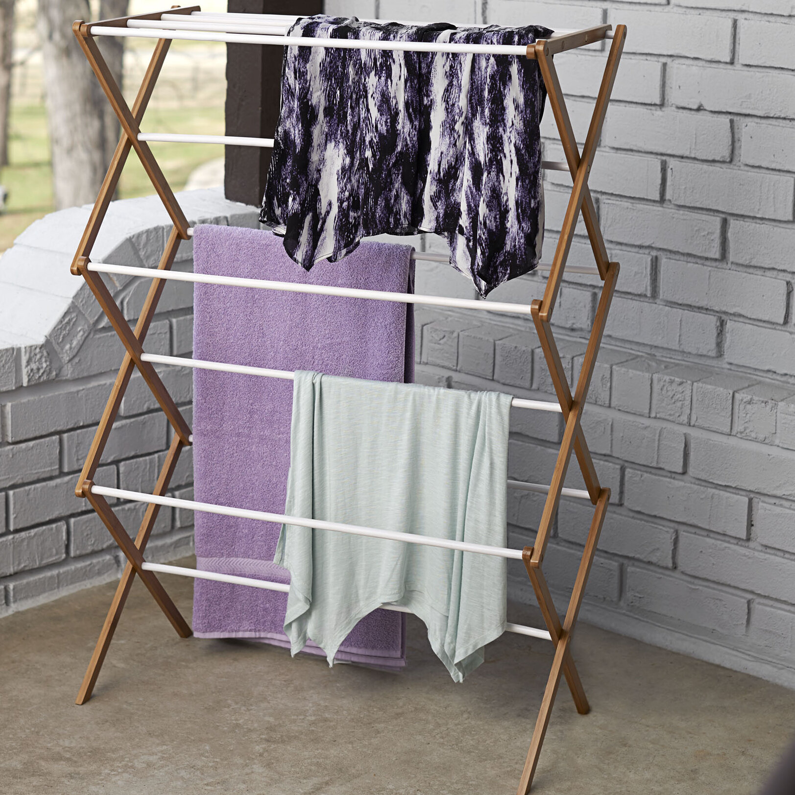 Rebrilliant Bamboo Accordion Free Standing Drying Rack Reviews