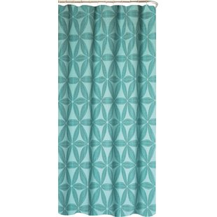 Blue Fabric Shower Curtain | Wayfair