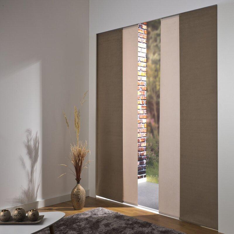 liedeco gardinen set mit klettband. Black Bedroom Furniture Sets. Home Design Ideas