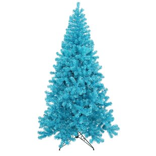 4 sky blue pine artificial christmas tree with 150 teal lights with metal stand - Christmas Tree With Blue Lights