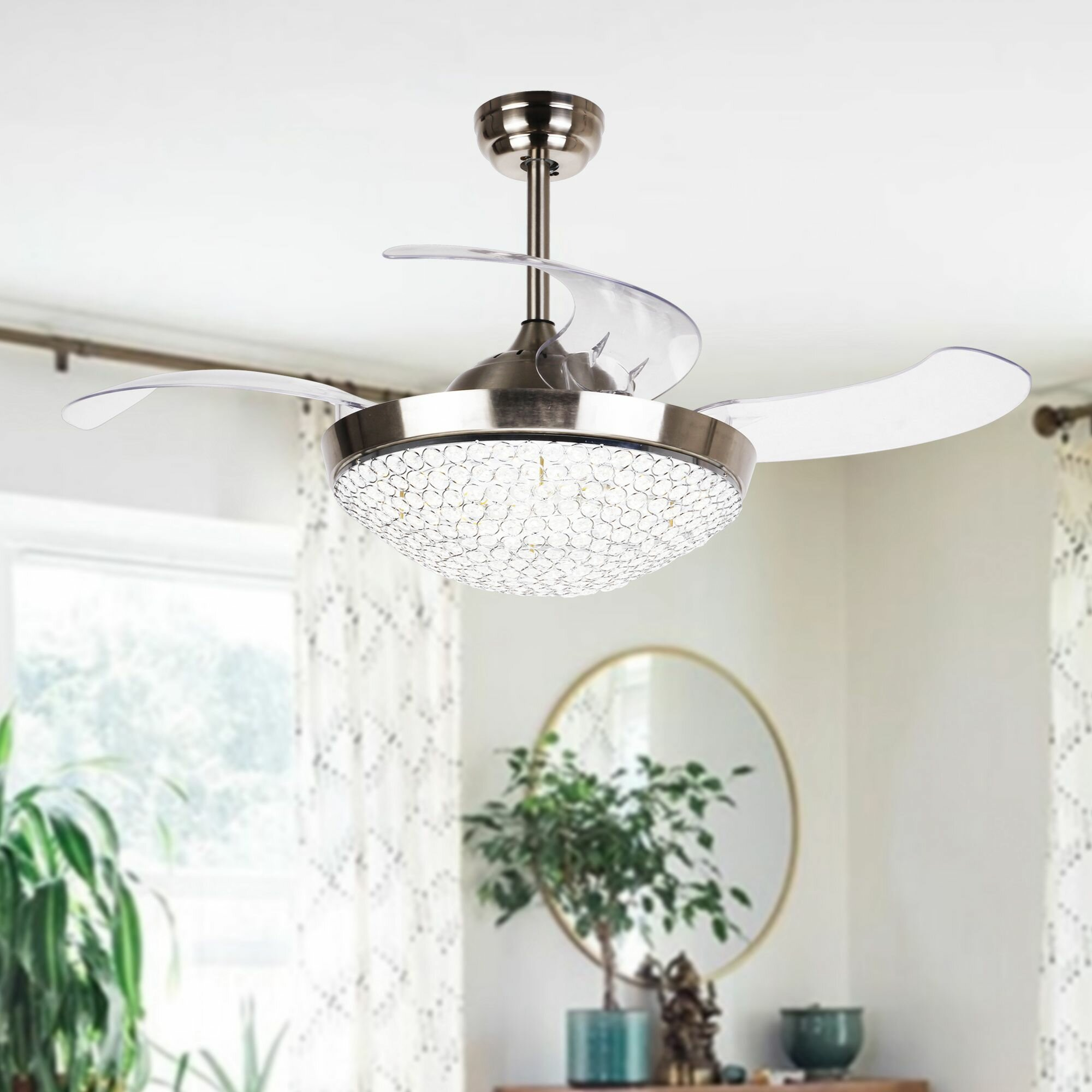 Ceiling Fans Youll Love Wayfair Hunter Customer Service 425 Brownesville 4 Blade Led Fan With Remote