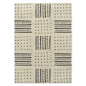 Geometric Ivory/Black Area Rug