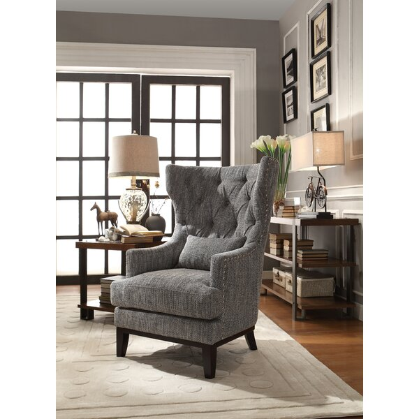gray wingback chair. Gray Wingback Chair