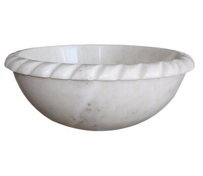 rope natural stone circular vessel bathroom sink