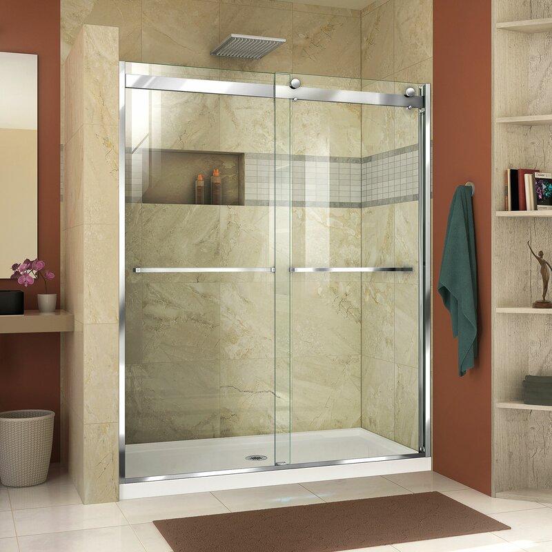 Dreamline Essence H 48 X 76 Bypass Semi Frameless Shower Door With