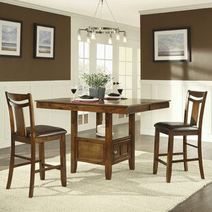 Dahlonega 3 Piece Counter Height Extendable Dining Set