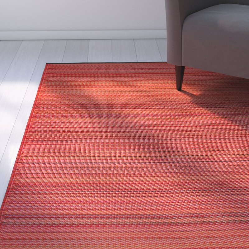 Zipcode Design Reva Hand-Woven Red Indoor/Outdoor Area Rug ...