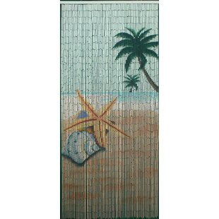 Star Fish Beach Bamboo Beaded Single Curtain Panel