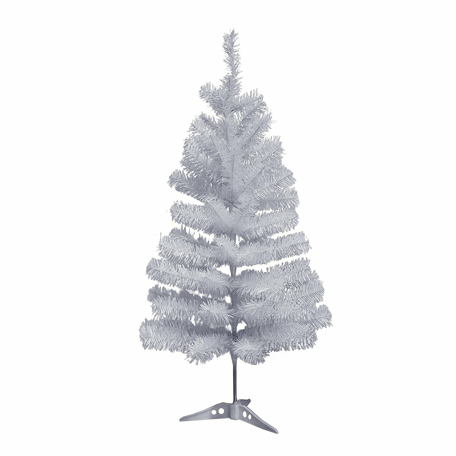 The Holiday Aisle Miniature 3 White Pine Artificial Christmas Tree With Plastic Stand Wayfair