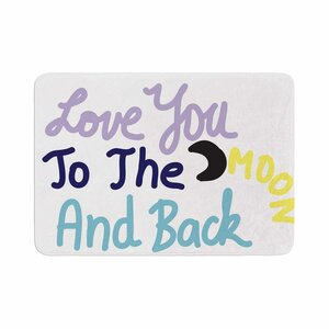 Vasare Nar Love You to the Moon and Back Vector Memory Foam Bath Rug