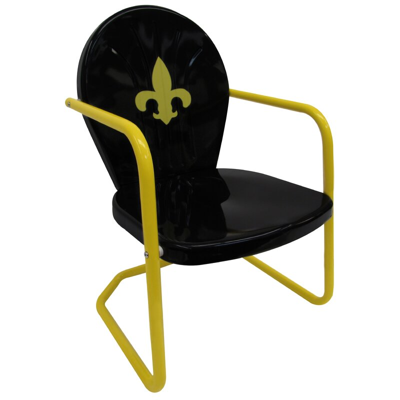 Leighcountry Fleur De Lis Retro Chair Wayfair
