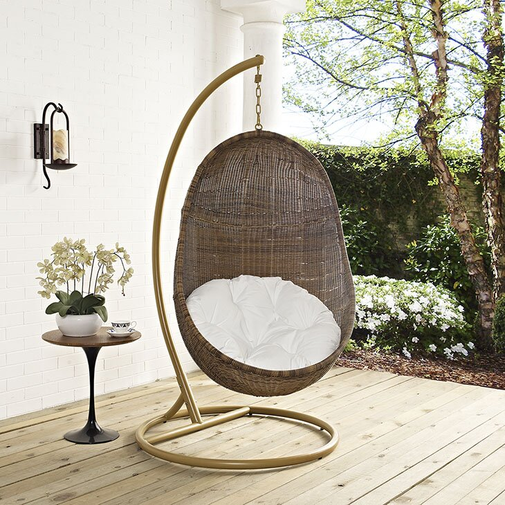 Modway Bean Swing Chair With Stand Amp Reviews Wayfair