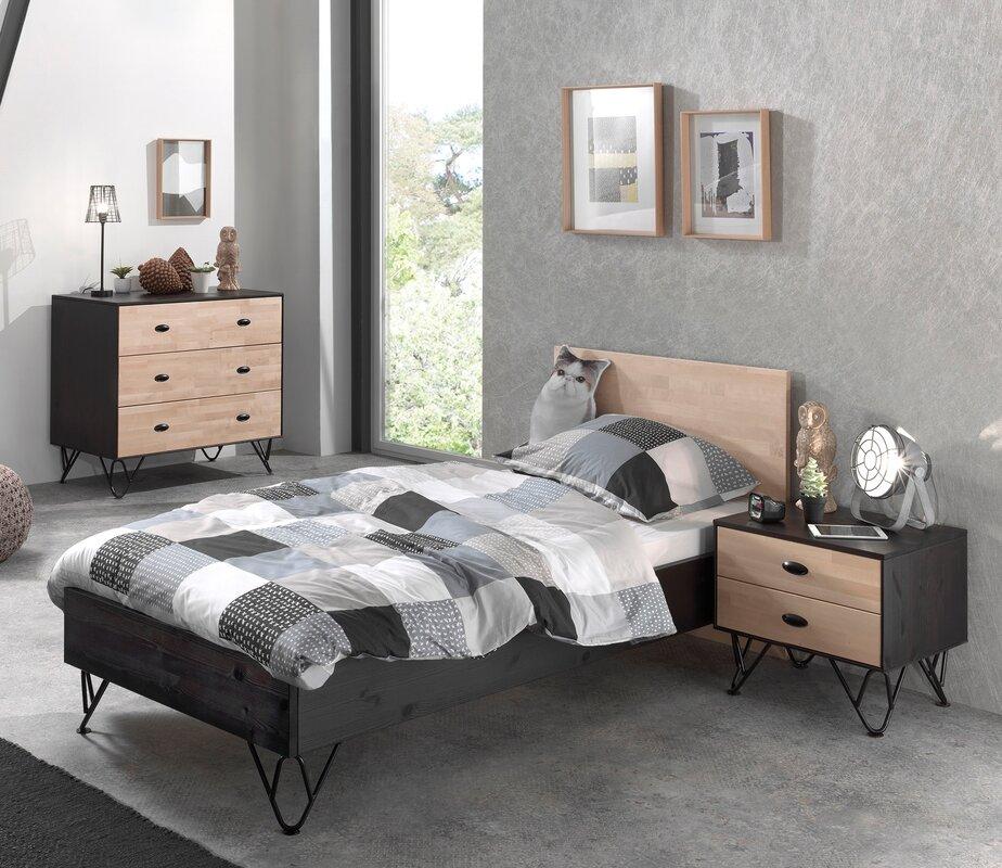 vipack 3 tlg schlafzimmer set william 90 x 200 cm. Black Bedroom Furniture Sets. Home Design Ideas