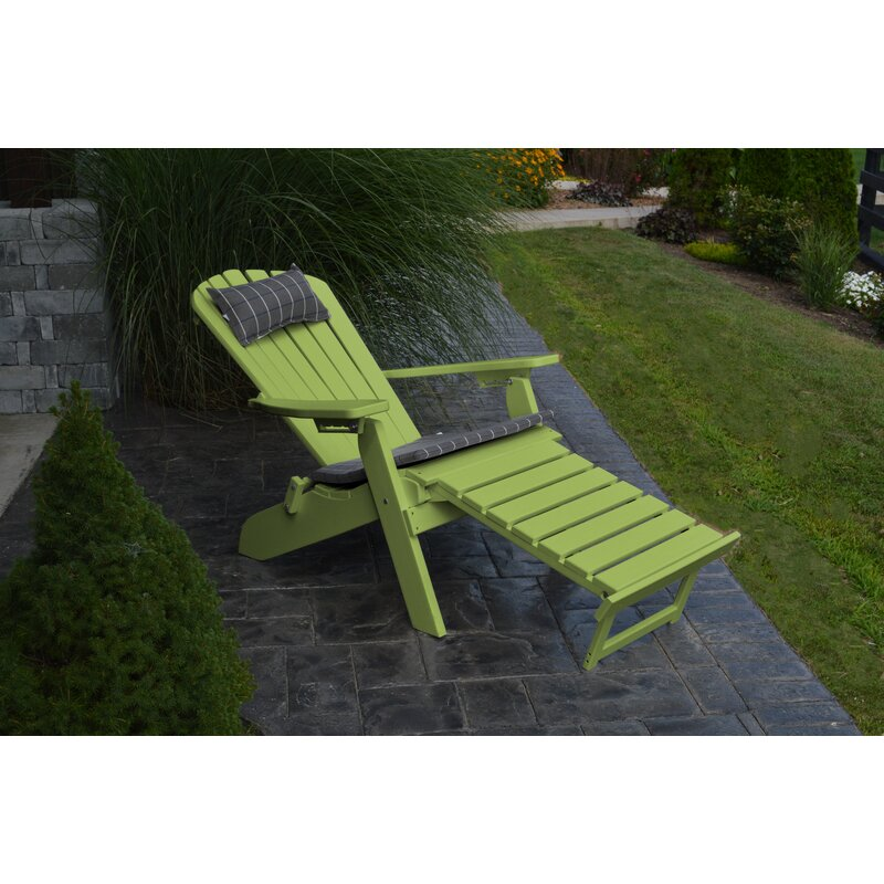 Plastic Folding Adirondack Chair With Ottoman
