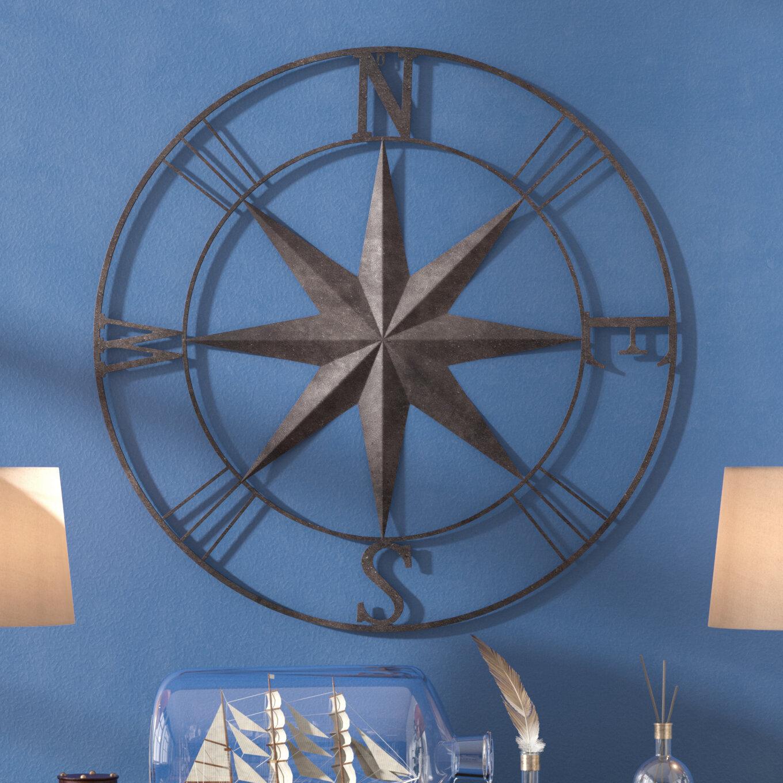 Darby Home Co Antique Metal Compass Rose Wall Decor & Reviews | Wayfair