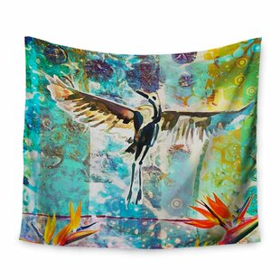 AlyZen Moonshadow Birds Of Paradise With Stork Tapestry and Wall Hanging