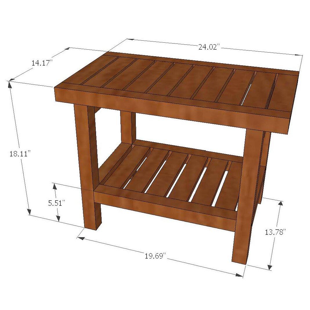 solid teak grate pattern rigid shower seat