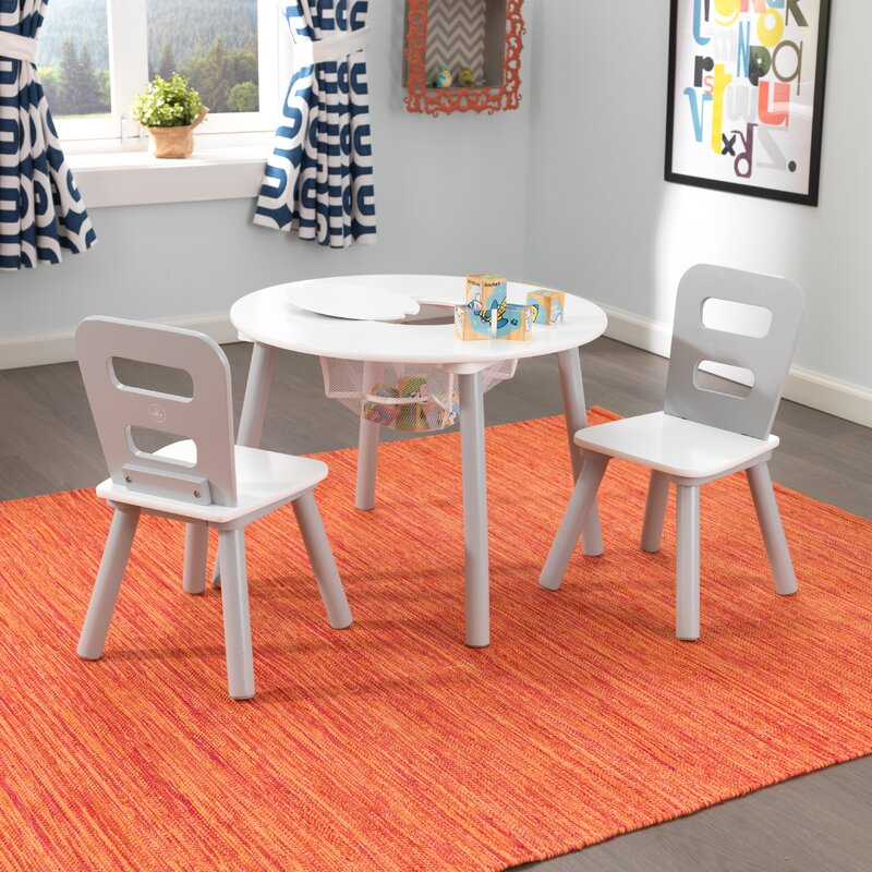 Home In Style Pencil Kids Table With 2 Chairs Set Childrens Playroom Home  Style