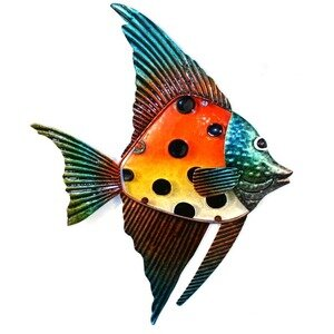 U0027Orange U0026 Yellow Spotted Glass Fishu0027 Wall Art On Metal