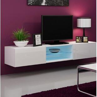 Tv cabinet with glass doors wayfair jaggers glass 709 tv stand planetlyrics Choice Image