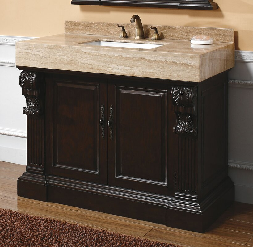 "james martin furniture toscano 42"" single cherry bathroom vanity"
