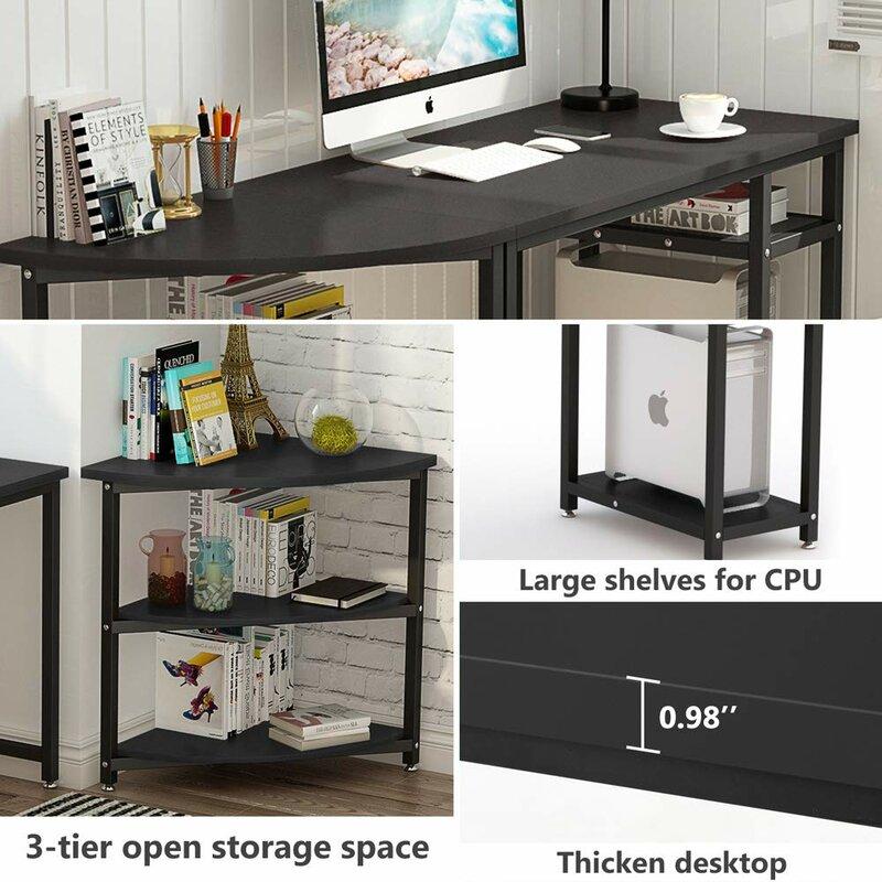 Cushing Corner Reversible Computer Desk