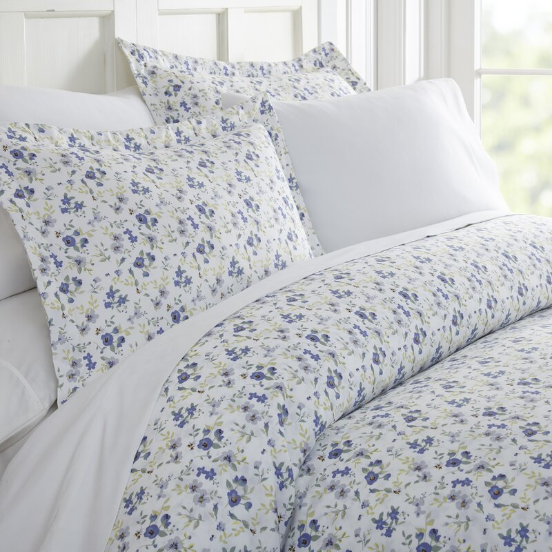 Bjarne Premium Ultra Soft Blossoms Print Duvet Cover Set