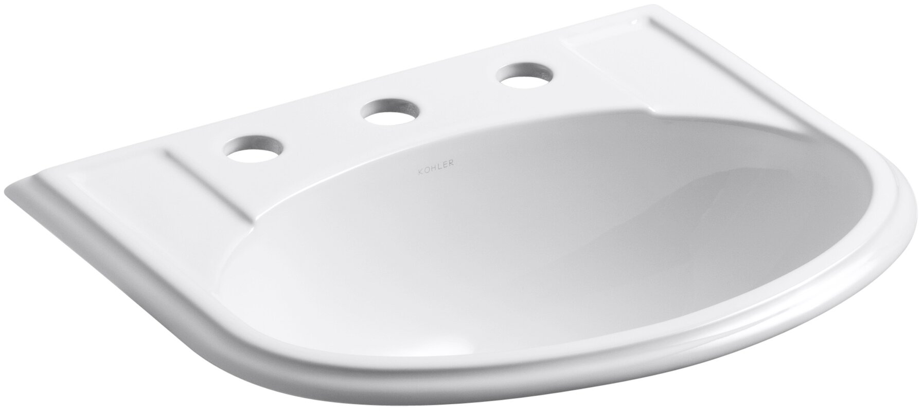 drop in bathroom sinks. Devonshire  Ceramic U Shaped Drop In Bathroom Sink with Overflow