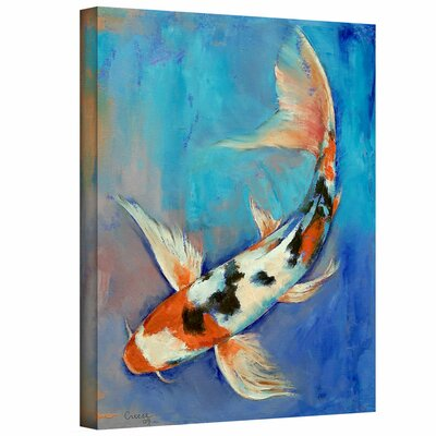 Artwall 39 sanke butterfly koi 39 by michael creese painting for Koi canvas print