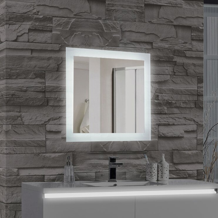Bathroom Wall Mirror mtdvanities encore led illuminated bathroom wall mirror & reviews